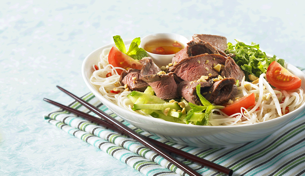 Vietnamese Flank Steak with Noodle Salad