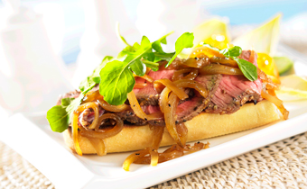 Grilled Beef Steak Sandwich