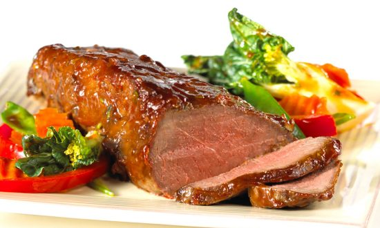 Hoisin-Glazed Roast Beef with Stir-Fry Vegetables