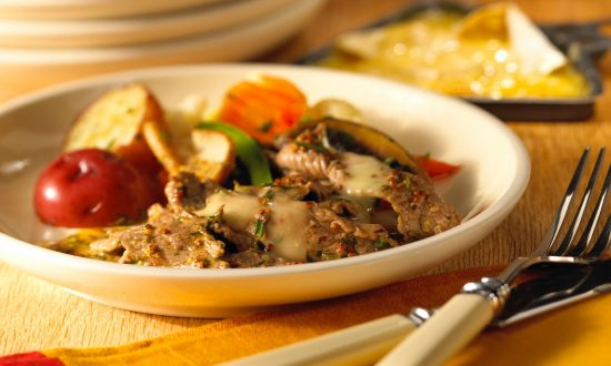 Raclette-Style Beef in Herbed Butter