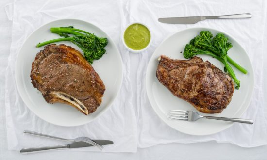 Prime Rib Steak with Cilantro Ginger Sauce